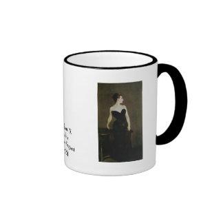 Madame X by John Singer Sargent Ringer Mug