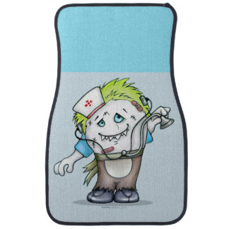 MADDI ALIEN DOC Cartoon Car Mats (Front) (set of 2 Car Carpet