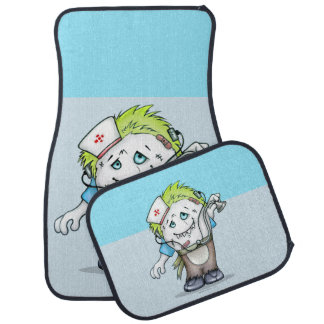 MADDI ALIEN DOC Cartoon Car Mats Full Set (setof2) Car Floor Carpet