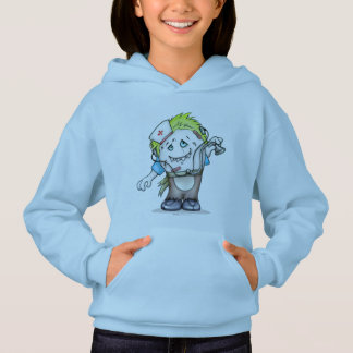 MADDI ALIEN MONSTER CARTOON Hoodie Girl Light Blue