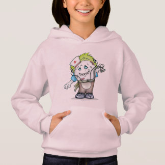 MADDI ALIEN MONSTER CARTOON Hoodie Girl Pale Pink