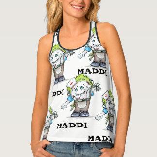 MADDI CARTOON Women's All-Over PrintRacerback T -B Tank Top