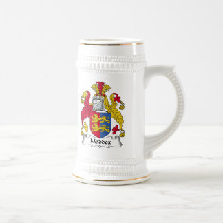 Maddox Family Crest Beer Stein