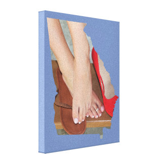 Maddy's Shoe Dilemma GA State Outline Canvas Print