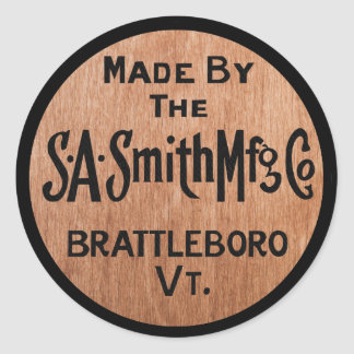 Made By S.A.Smith Mfg. Co. Vintage Logo Sticker