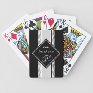 Made for each other monogram bicycle playing cards