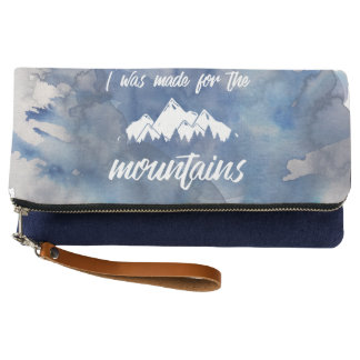 Made For The Mountains Watercolor Clutch