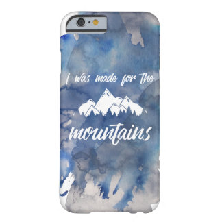 Made For The Mountains Watercolor iPhone Case