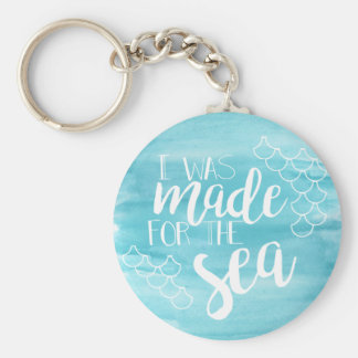 Made For The Sea Watercolor Keychain