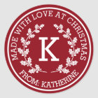 Made For You At Christmas Classic Round Sticker
