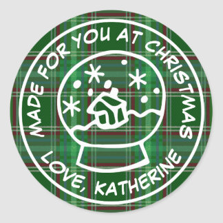 Made For You At Christmas Round Sticker
