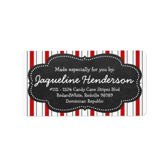 Made for you by  Personalized Red stripes