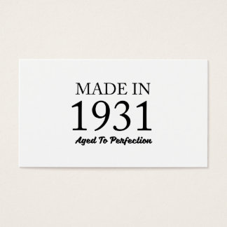 Made In 1931 Business Card
