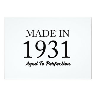 Made In 1931 Card