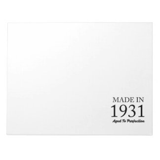 Made In 1931 Notepad