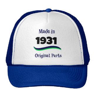 Made in 1931, Original Parts Trucker Hat