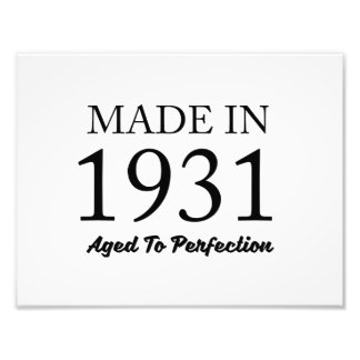 Made In 1931 Photo Print
