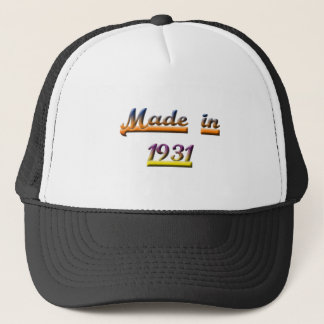 MADE IN 1931 TRUCKER HAT