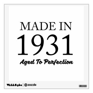 Made In 1931 Wall Sticker