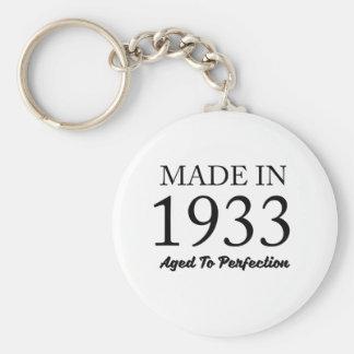 Made In 1933 Basic Round Button Keychain