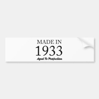 Made In 1933 Bumper Sticker