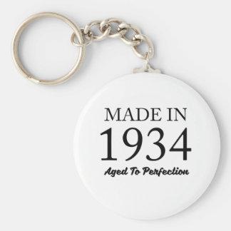 Made In 1934 Basic Round Button Keychain