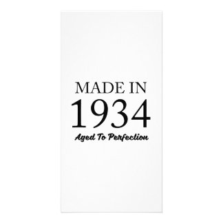 Made In 1934 Customized Photo Card