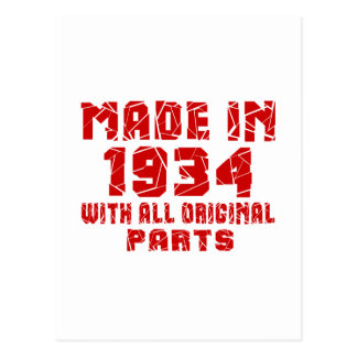 Made In 1934 With All Original Parts Postcard