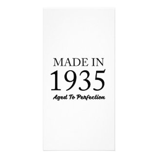 Made In 1935 Photo Card Template