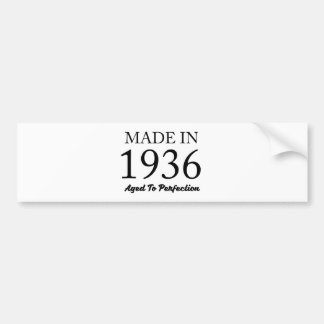 Made In 1936 Bumper Sticker