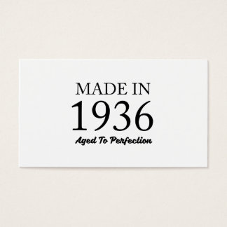 Made In 1936 Business Card