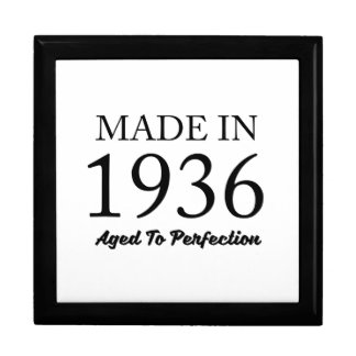 Made In 1936 Keepsake Boxes