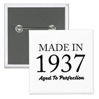 Made In 1937 2 Inch Square Button