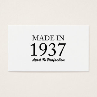 Made In 1937 Business Card