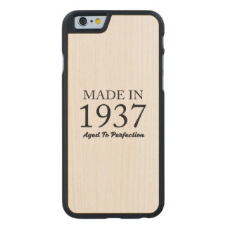 Made In 1937 Carved® Maple iPhone 6 Slim Case