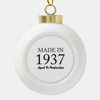 Made In 1937 Ceramic Ball Ornament