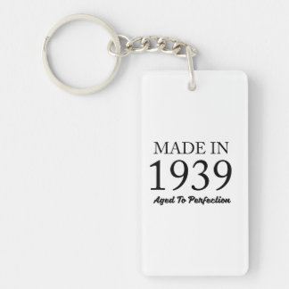 Made In 1939 Double-Sided Rectangular Acrylic Keychain