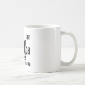 MADE IN 1939 ORIGINAL BRAND BIRTHDAY DESIGNS COFFEE MUG