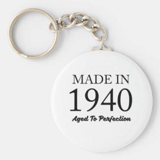 Made In 1940 Basic Round Button Keychain