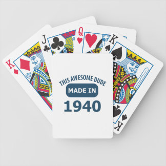 Made in 1940 bicycle playing cards