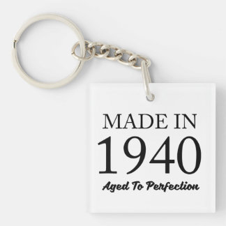 Made In 1940 Double-Sided Square Acrylic Keychain