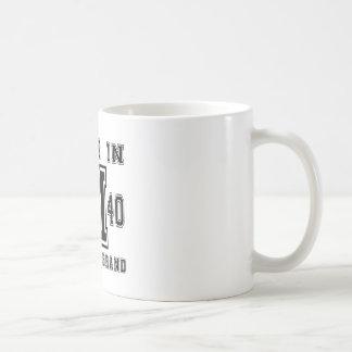MADE IN 1940 ORIGINAL BRAND BIRTHDAY DESIGNS COFFEE MUG