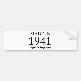 Made In 1941 Bumper Sticker