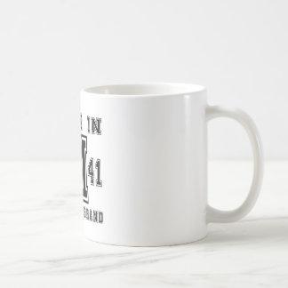 MADE IN 1941 ORIGINAL BRAND BIRTHDAY DESIGNS COFFEE MUG