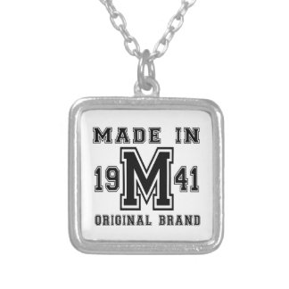 MADE IN 1941 ORIGINAL BRAND BIRTHDAY DESIGNS SILVER PLATED NECKLACE