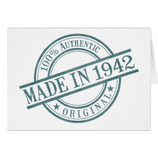 Made in 1942 Landscape Greeting Card