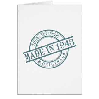 Made in 1943 card