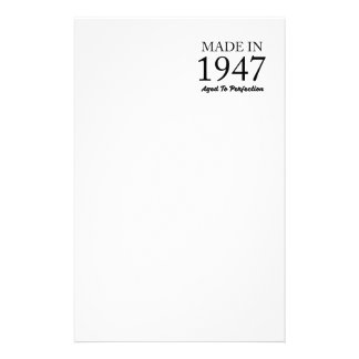 Made In 1947 Stationery