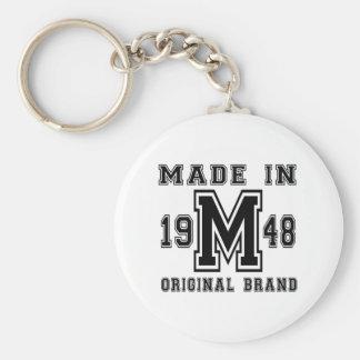 MADE IN 1948 ORIGINAL BRAND BIRTHDAY DESIGNS KEYCHAIN
