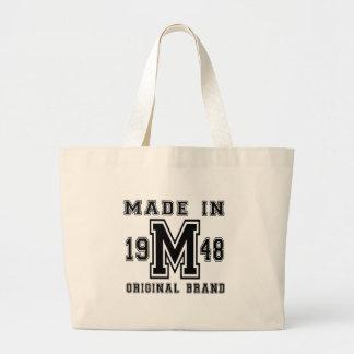 MADE IN 1948 ORIGINAL BRAND BIRTHDAY DESIGNS LARGE TOTE BAG